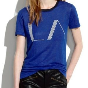 Madewell LA Art Deco Linen Short Sleeve T-Shirt